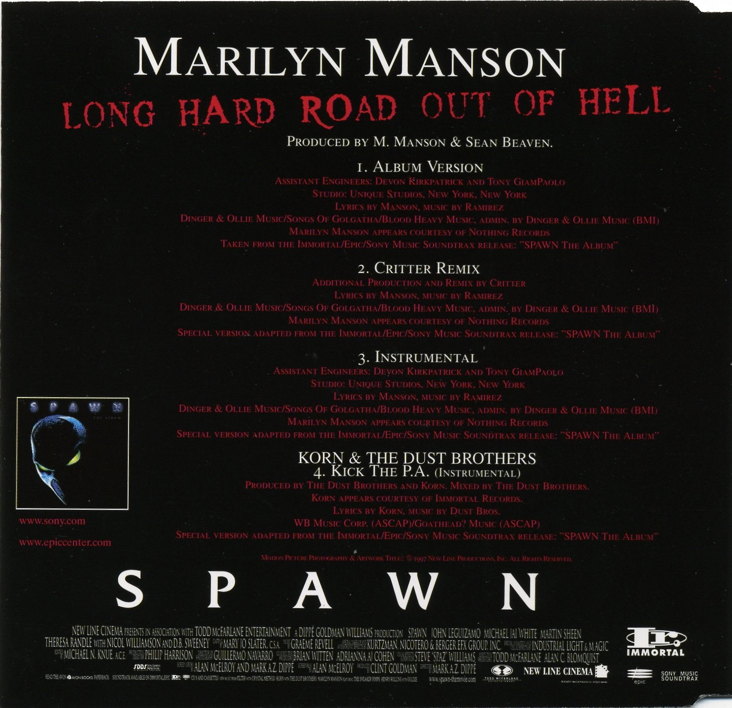 Marilyn Manson: Long Hard Road Out Of Hell DE CD Single